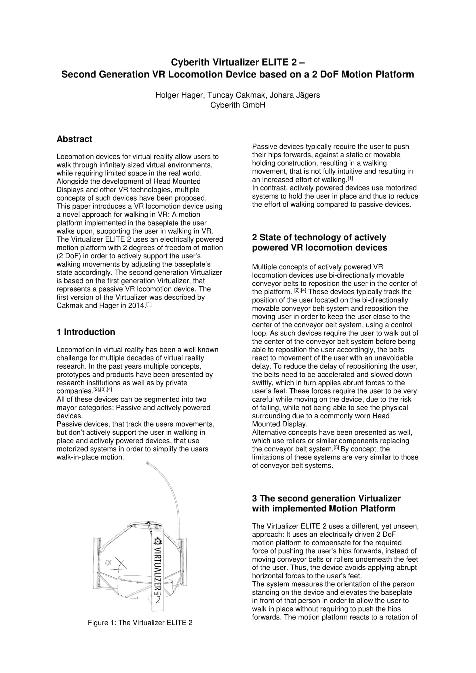Virtualizer ELITE 2 Paper first page