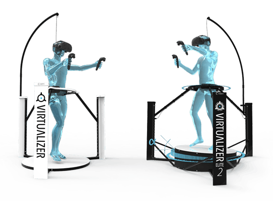 The Cyberith Virtualizer locomotion platforms for walking in VR