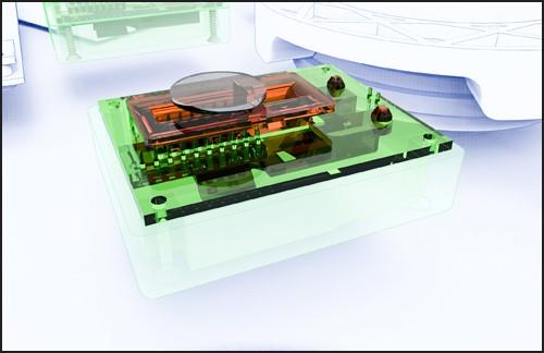 Optical Motion Sensor inside the baseplate of the Virtualizer